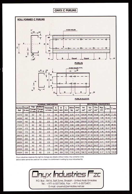 Onyx Industries Fzc Steel Fabrication Amp Profile Division